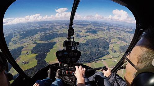 Sicht aus Cockpit