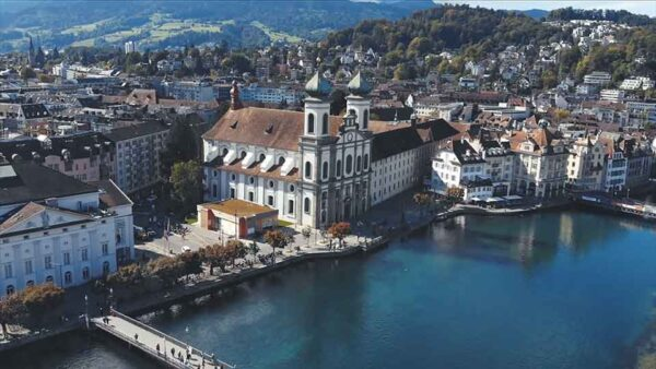 Flugaufnahme Luzern Videoproduktion
